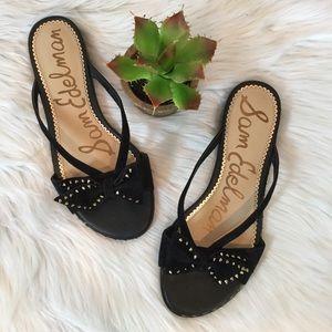 NWOT, Sam Edelman Dariel Studded Bow Sandals, 9.5